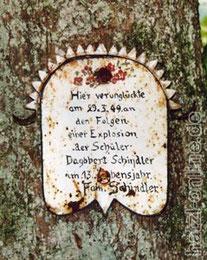 Erinnerungstafel - Schindler