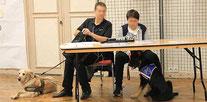 Des chiens guides d'aveugles au Forum Culturel de la Différence de Crépy-en-Valois en 2017