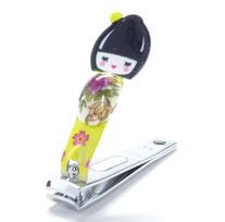 九谷焼【爪切り】お人形 黄色系
