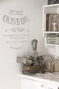 Pochoir Pure olive oil  de la collection Jeanne d'Arc Living