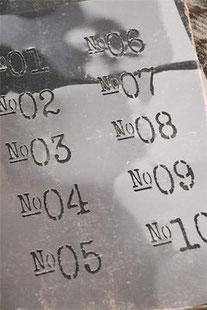 Pochoir Numéros de la collection Jeanne d'Arc Living