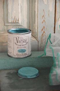 Vintage Paint de Jeanne d'Arc living - couleur Old turquoise
