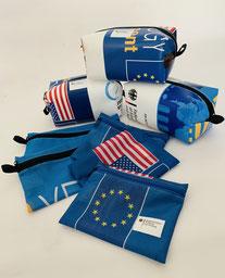 Upcycling Unikate aus alten Planen und Fahnen wurden von Reciclage gefertigt. Jede Recycling Tasche wurde in Deutschland hergestellt, nachhaltiger und sozialer können diese Einzelstücke nicht sein.