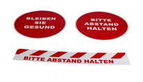 Bodenaufkleber unterstützen beim Hygieneschutz, Artikel 163, 164 & 165, FMU GmbH