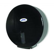 Despachador /Dispensador de papel higiénico mini AE57400 Color: Humo con base blanca Dimensiones en milímetros: Alto: 278 Largo: 275 Ancho: 135 Capacidad: 1 rollo máximo de 300 m de papel Contenido por caja: 1 pieza