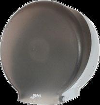 Despachador / Dispensador de papel higiénico mini PH51002 Color: Transparente con base gris Dimensiones en milímetros: Alto: 280 Largo: 270 Ancho: 125 Capacidad: 1 rollo máximo de 300 m de papel Contenido por caja: 2 piezas
