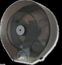 Despachador /Dispensador de papel higiénico mini PH51310 Color: Transparente con base gris Dimensiones en milímetros: Alto: 280 Largo: 270 Ancho: 125 Capacidad: 1 rollo máximo de 300 m de papel Contenido por caja: 2 piezas