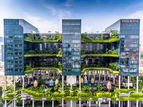 Parkroyal on Pickering Top Hotel mit Tropengarten, Natur Pool und nachhaltiges und Umweltfreundliches Hotels in Singapur