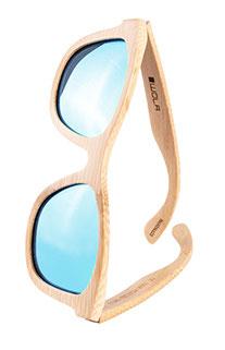 Runde Damen Holzsonnenbrille