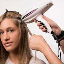 Bild: Haarverlängerung Verbindungsstellen Nano Bonds Veranschaulichung