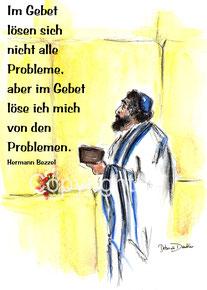 Klagemauer, Gebet Zitat Hermann Bezzel
