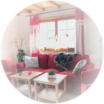 Wohnzimmer mit Kuschelcouch