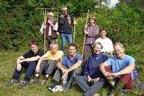 Aktive des NABU Wiesloch bei der Landschaftspflege