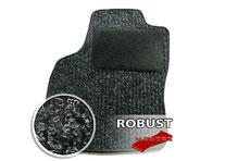 MERTEX-Autofussmatte ROBUST -  Nadelfilz in Rippenstruktur  100 % Polypropylen,  Granulatrücken  textiler Hackenschutz/Trittschutz  Farbe: anthrazit