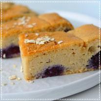 Amandel-blauwe bessen cake
