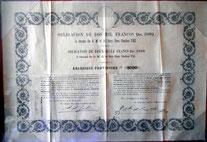 Obligación 2000 francos 1869 Carlos VII
