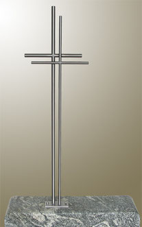 Edelstahl Grabkreuz 130x50cm