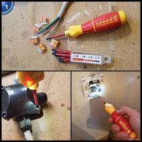 Wiha E-Schraubendreher Set 2 speedE® electric, 13-tlg: in L-Boxx Mini mit 8x slimBits, 1x easyTorque Adapter, 2x Batterien und Ladegerät