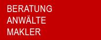 BERATUNG - VERMITTLUNG - ANWÄLTE - MAKLER  IMMOBILIEN - FINANZEN - BANKEN / SPARKASSEN