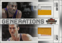 KOBE BRYANT & JERRY WEST / Generations - No. 1  (#d 7/10)