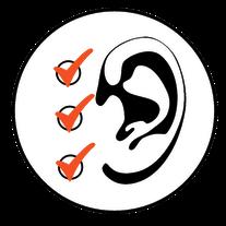 Ohr Haken Beratung Checkliste Hörgeräte
