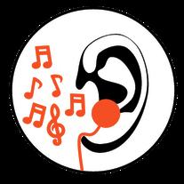 Ohr Kopfhörer Noten Musik In Ear Monitoring