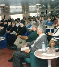 CNE & Dani Amit, First Religion, Science & Environment Symposium, Onboard F/B Prevelli, Aegean Sea, 1995