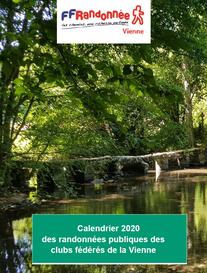 Calendrier 2020 des randonnées publiques des clubs de la Vienne