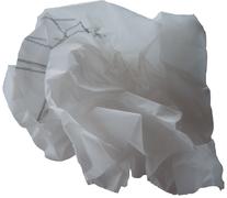 zusammen geknülltes Skizzenpapier
