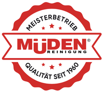 Versandreinigung-mueden, über uns, Siegel der Müden Reinigung.