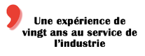 expérience expertise industrie