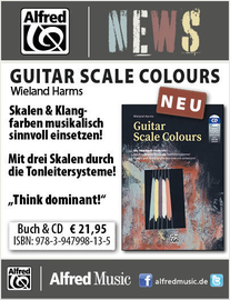 Anzeige AlfredMusic: https://www.alfredmusic.de/guitar-scale-colours-bkcd.html