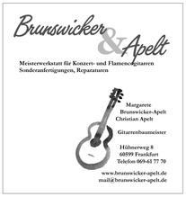 Guitarmaker Brunswicker & Apelt  www.brunswicker-apelt.de
