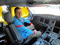 Im Cockpit des A330