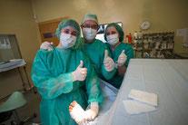 Cirugía del pie en Murcia con Clínica del Pie Rivera, nuestro equipo de quirófano