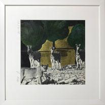 """""""Zebra"""" Arbeit Franziska Kuos aus der Werkserie Wild Life 2018"""