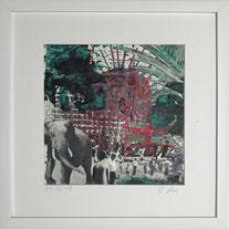 """""""Elefant"""" Arbeit Franziska Kuos aus der Werkserie Wild Life 2018"""