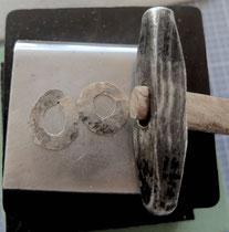 gehämmerter Silberdraht