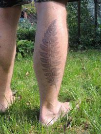 ...und nach 2 Tagen ist das Tattoo entwickelt.