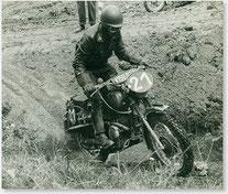 1963, internationale Alpenfahrt Walter Gsöll als Mitglied der Heeresmannschaft.