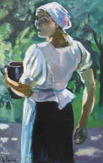 Charles Clément, jeune femme tenant un pot,Charles Clément, jeune femme tenant un pot, Charles Clément, jeune femme tenant un pot,,Charles Clément, jeune femme tenant un pot