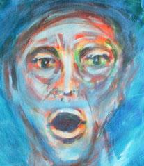 """Ausschnit aus der Farbskizze """"Luft"""", Acryl auf Leinwand, 40 cm x 60 cm, 2021"""