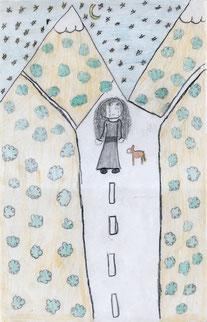 Dibujo de Gicel Rivera 11 años.