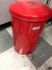 液状の取り扱い危険物を破棄する容器