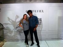 Bailarines de A10 Azafatas en la Fashion Night Out de Vogue para Cortefiel