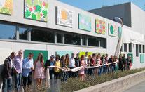 Eröffnung der Freilichtgalerie, Foto: Jugendbüro der Stadt Neumarkt
