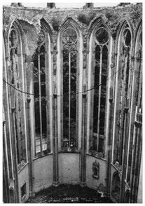 Chorhalle des Münsters 1945