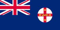 Flagge Bundesstaat New South Wales, Australien