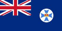 Flagge Bundesstaat Queensland, Australien