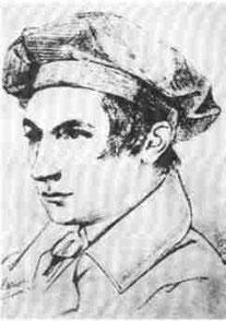 der junge Gottfried Kinkel (Handzeichnung 1836)